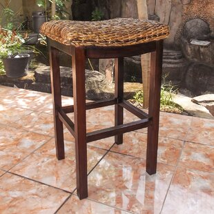 Duck Abaca Accent Stool by Highland Dunes