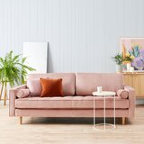 "Ravi Velvet 84"" Square Arm Sofa"
