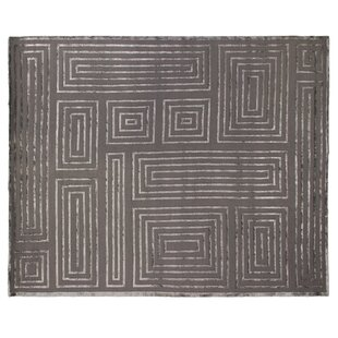 Find for Hand-Knotted Wool/Silk Brown/White Area Rug By Exquisite Rugs