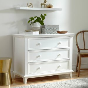 Transitional 3 Drawer Dresser