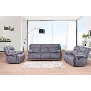 Shop For Downie Reclining 3 Piece Living Room Set by Red Barrel Studio Reviews (2019) & Buyer's Guide