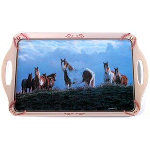 Melamine Horses Paint Serving Tray