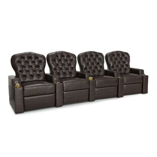 Leather Home Theater Row Seating (Row of 4) ByRed Barrel Studio