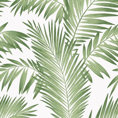 "Kansas Tropical Palm 33"" L x 20.5"" W Wallpaper Panel Bay Isle Home"