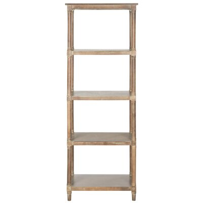 Roberts Sheft Etagere Bookcase Color: Washed Natural Pine by August Grove