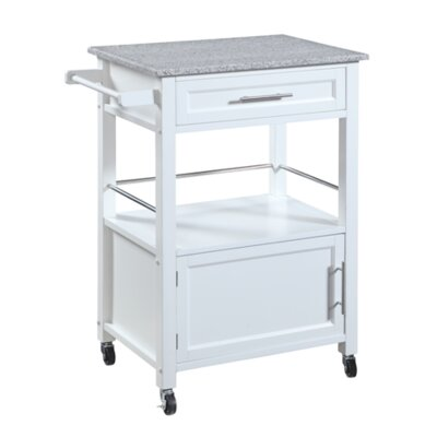 Elsie Kitchen Cart with Granite Top by Andover Mills