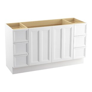 Damask? 60 Vanity with Toe Kick, 2 Doors and 6 Drawers, Split Top Drawers by Kohler