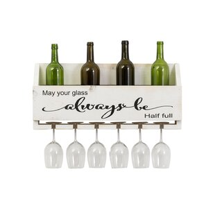 Mccandless Always Be 6 Bottle Wall Mounted Wine Rack