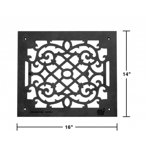 The Renovators Supply Inc 14 X 16 Aluminum Heat Air Grille Victorian In Cast Wayfair