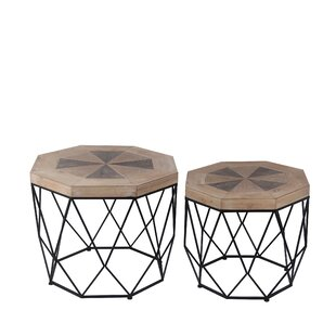 Great choice Ted 2 Piece End Table Set by World Menagerie