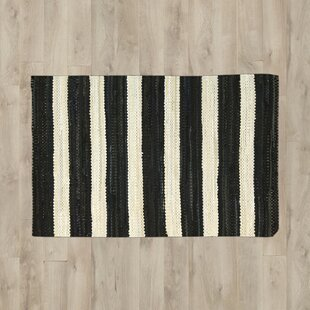 Top Mayfair Black/White Area Rug By Breakwater Bay