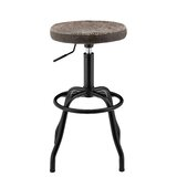 Petrone Adjustable Height Bar Stool by Williston Forge
