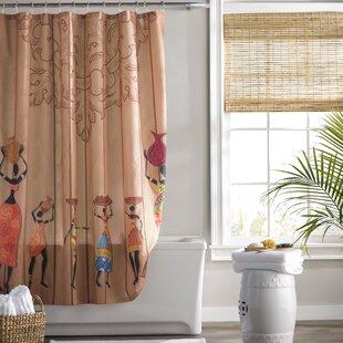 Jodie Aboriginal Girls Shower Curtain