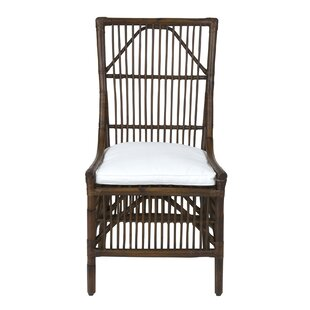 Oriana Patio Dining Chair with Cushion (Set of 2)