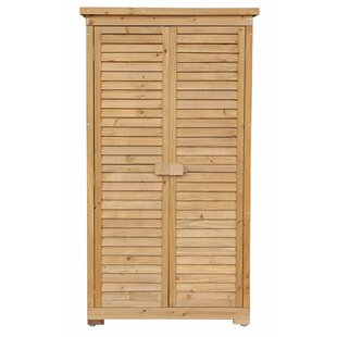 2 ft. 9 in. W x 1 ft. 6 in. D Wooden Vertical Tool Shed by Merax