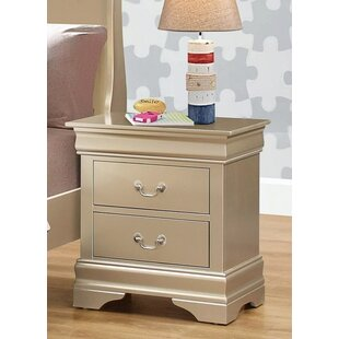 Sharla 2 Drawers Nightstand