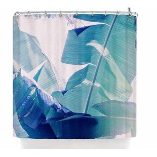 Ann Barnes Banana Leaf Shower Curtain