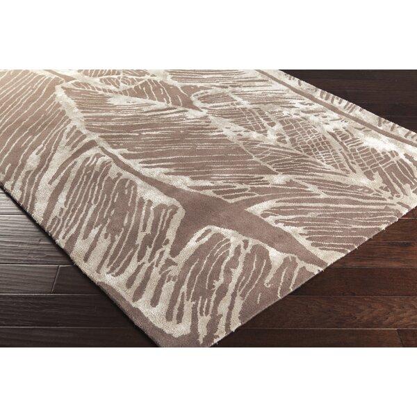 Candice Olson Modern Classics Abstract Handmade Tufted Wool Dark Brown Area Rug Wayfair