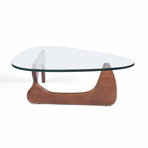 George Oliver Classic Isamu New Noguchi Coffee Table Authentic Brand Walnut Wood Base Wayfair