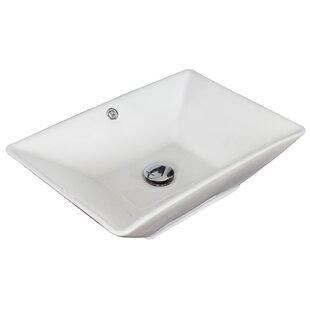 Best Ceramic Rectangular Vessel Bathroom Sink with Overflow ByAmerican Imaginations