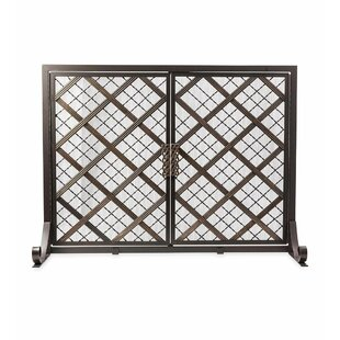 McCormick Celtic 2 Panel Steel Fireplace Screen by Plow & Hearth