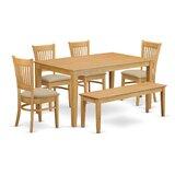 Smyrna 6 - Piece Breakfast Nook Dining Set by Charlton Home®