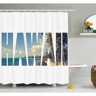 Tropical Hawaii Themed Artsy Shower Curtain Set