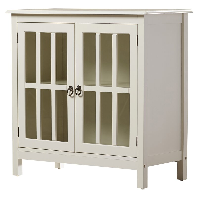 Purdue With Wooden Top Accent Cabinet