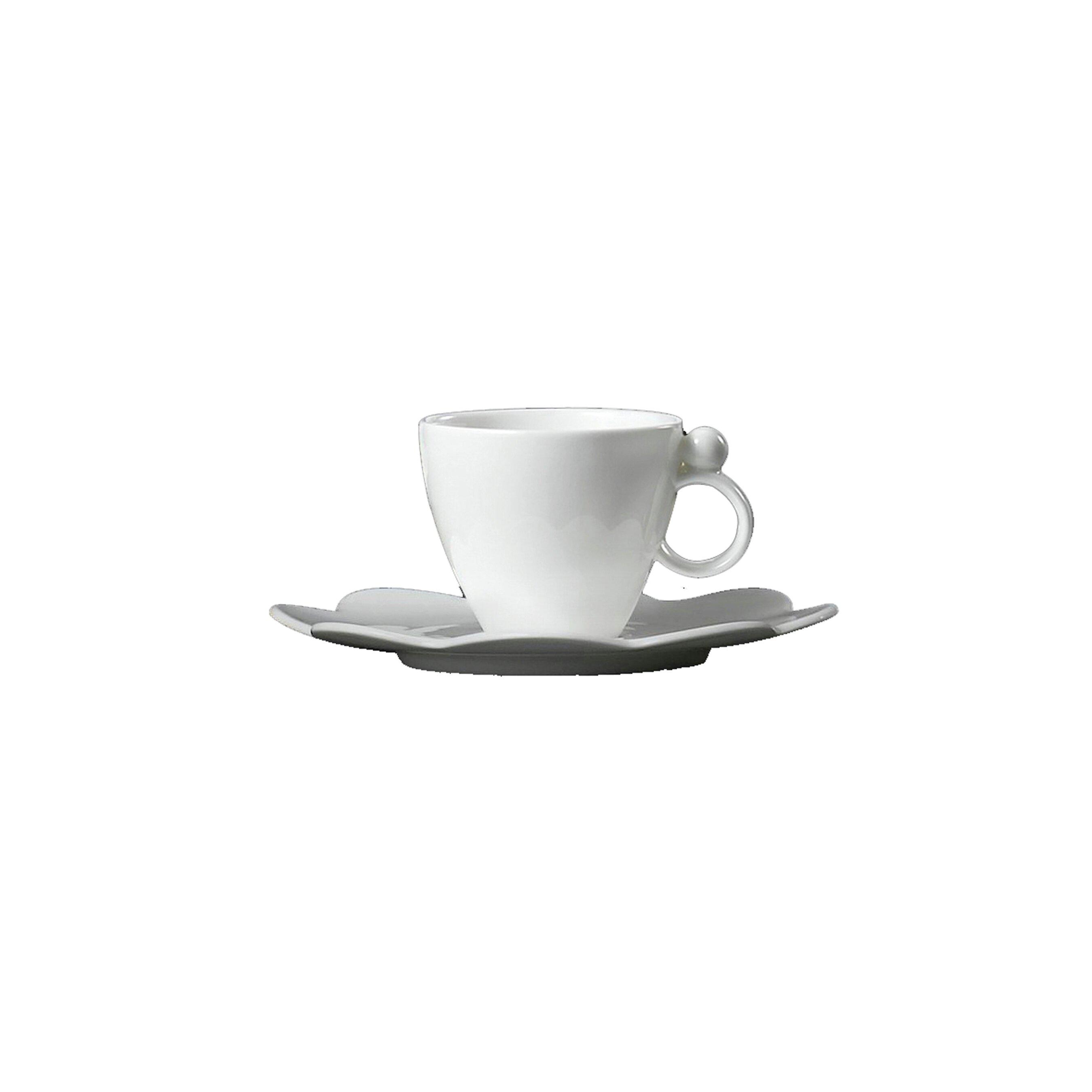 Prouna Geometrica White Bone China Espresso Cup And Saucer Set Of 2 Wayfair