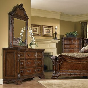 Brussels 9 Drawer Dresser With Mirror by Astoria Grand 2019 Sale