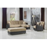 Esrin 95 Reversible Sleeper Sectional with Ottoman by Orren Ellis