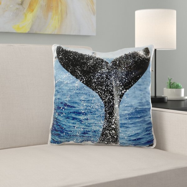 East Urban Home Santabarbara Humpback Whale Pillow Cover Wayfair