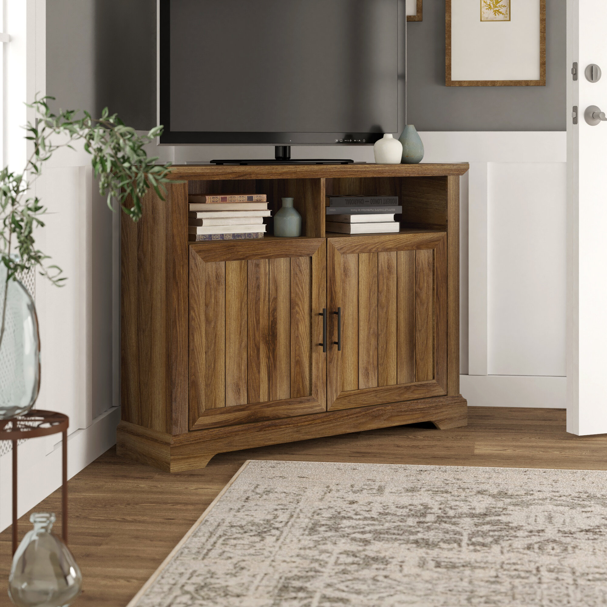 Picture of: Sedgefield Corner Tv Stand For Tvs Up To 48 Inches Reviews