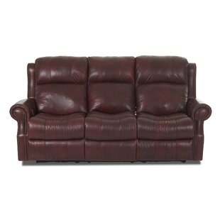 Shop Defiance Leather Reclining Sofa by Red Barrel Studio