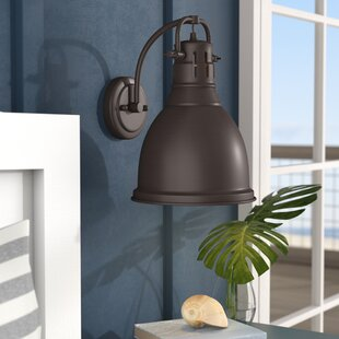 Bodalla 1-Light Armed Sconce by Beachcrest Home