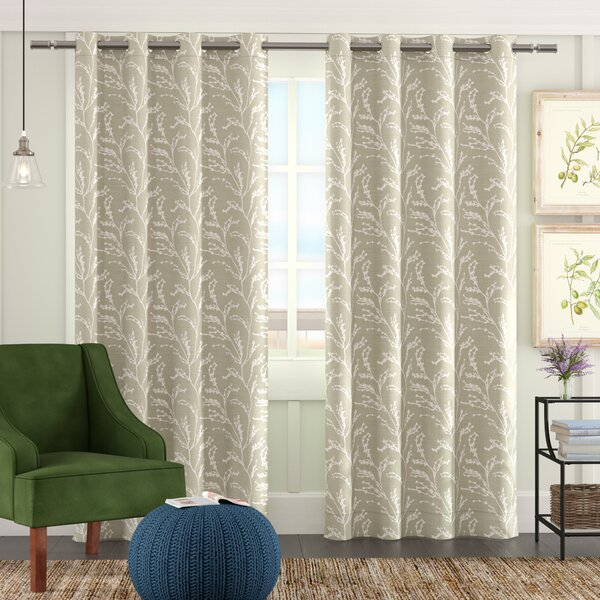 Baillons Floral Room Darkening Thermal Grommet Curtain Panels