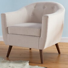 Jacob Solid Fabric Barrel Chair by George Oliver