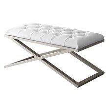 Ahumada X-Base Tufted Velvet Upholstered Bedroom Bench by Everly Quinn