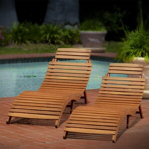 Wood Outdoor Lounge Chairs You\'ll Love | Wayfair