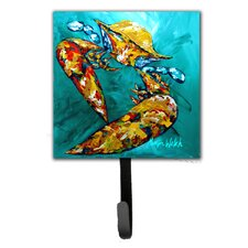 Crab Beam of Light Leash Holder and Wall Hook by Caroline's Treasures