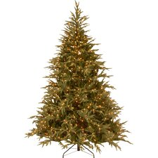 Fraser 7.5' Green Artificial Christmas Tree with 1000 LED Multi Lights and Stand