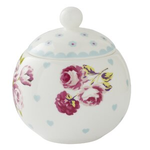 Vintage Kitchen 10cm Bone China Sugar Bowl