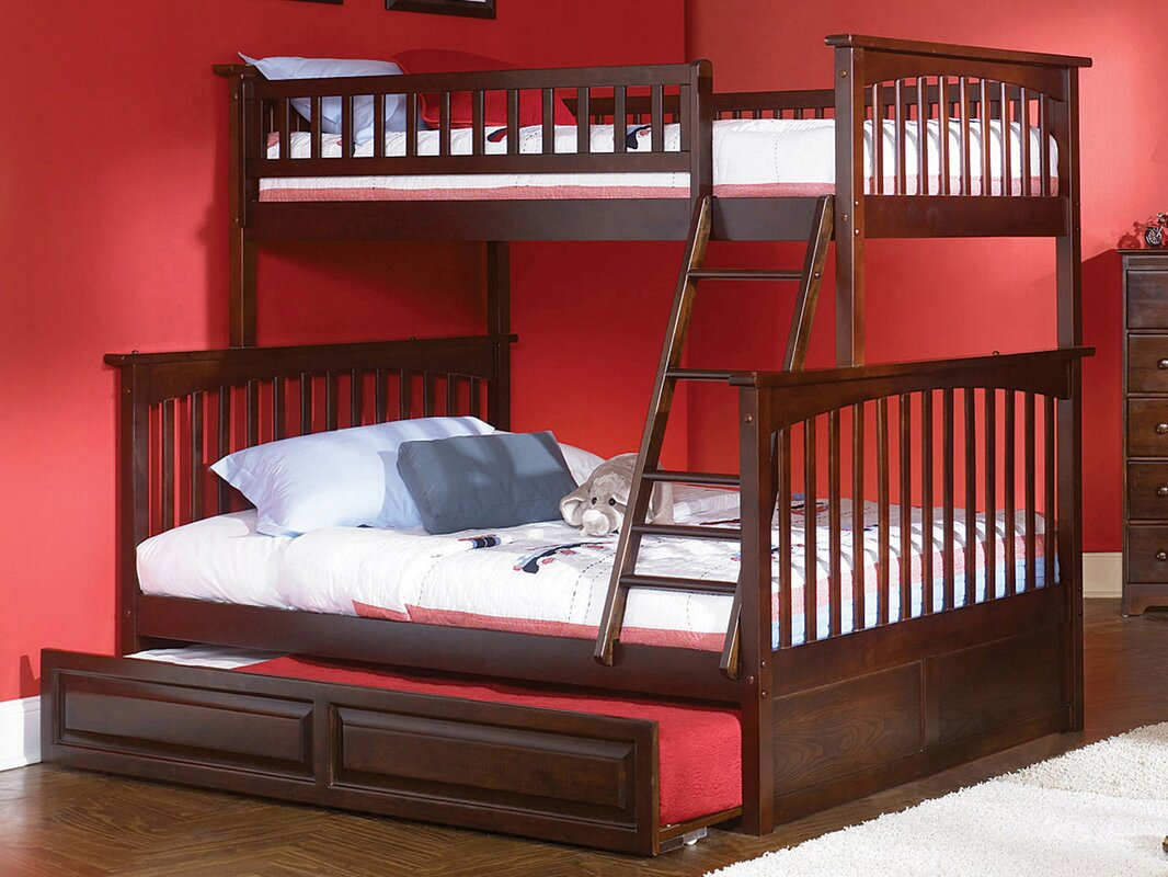 viv rae henry bunk bed with trundle reviews wayfair bunk bed