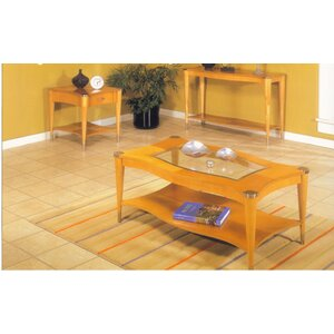 Sausalito Rectangular Coffee Table In A Natural Finish by Alpine Furniture