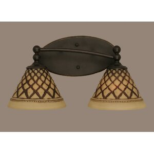 Capri 2-Light Vanity Light Toltec Lighting