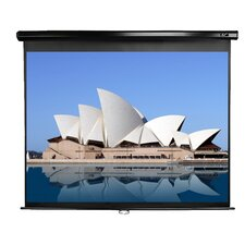 Manual Series White 150 Diagonal Manual Projection Screen by Elite Screens