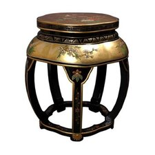 Asian Lacquer Blossom Stool by Oriental Furniture