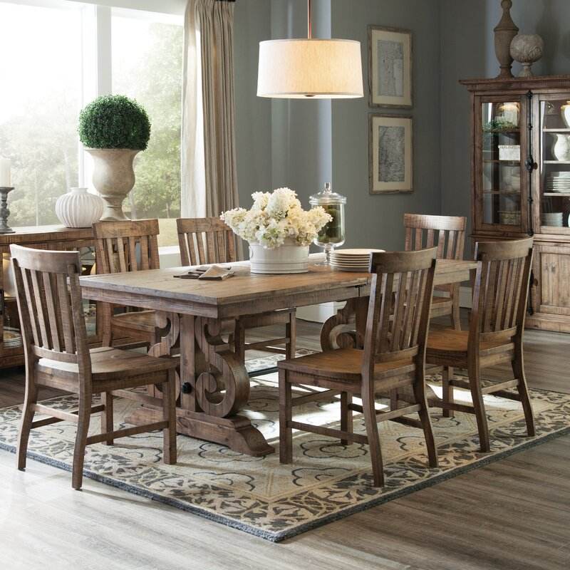 emejing rectangle dining room tables gallery - greenflare
