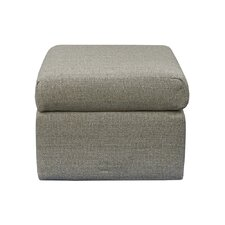 Contemporary Beige Square Ottoman by Grafton Home