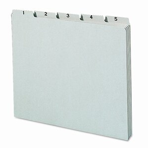 Pressboard Daily Recycled Top Tab File Guides, 31/Set